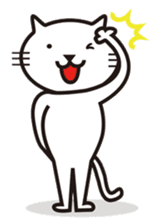Very white cat sticker #608823