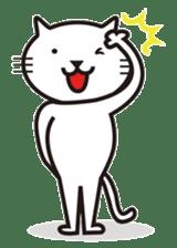 Very white cat sticker #608823