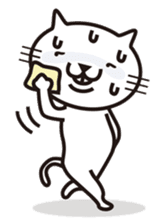Very white cat sticker #608837