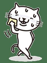 Very white cat sticker #608837