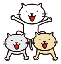 Very white cat sticker #608840
