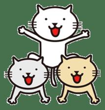 Very white cat sticker #608840