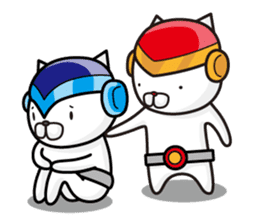 Fighting cat sticker sticker #610253