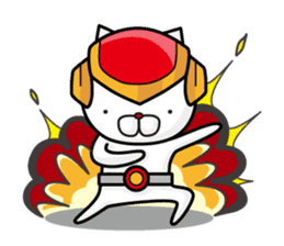 Fighting cat sticker sticker #610256