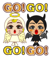 Angel and Devil sticker #612349