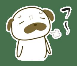 """Pug mame """"Pug-suke"""" sticker #612608"""