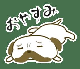 """Pug mame """"Pug-suke"""" sticker #612617"""