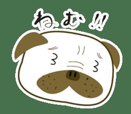 """Pug mame """"Pug-suke"""" sticker #612641"""
