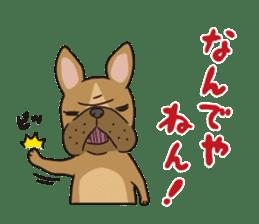 The French bulldog of Naniwa sticker #615365