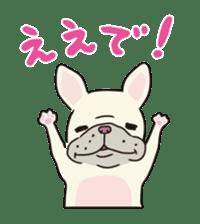 The French bulldog of Naniwa sticker #615366