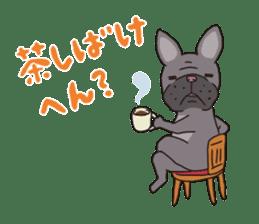 The French bulldog of Naniwa sticker #615373