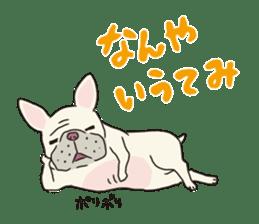 The French bulldog of Naniwa sticker #615375