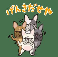 The French bulldog of Naniwa sticker #615380