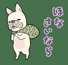The French bulldog of Naniwa sticker #615385