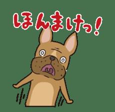 The French bulldog of Naniwa sticker #615389