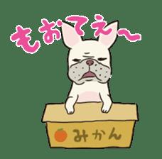 The French bulldog of Naniwa sticker #615390