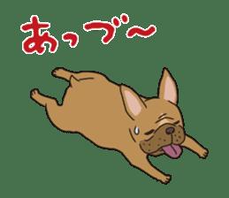 The French bulldog of Naniwa sticker #615391