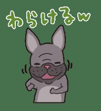 The French bulldog of Naniwa sticker #615393