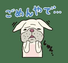 The French bulldog of Naniwa sticker #615399