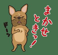 The French bulldog of Naniwa sticker #615400