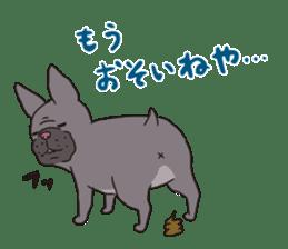 The French bulldog of Naniwa sticker #615401