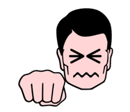 An office worker's expression sticker #618085