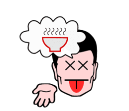 An office worker's expression sticker #618096