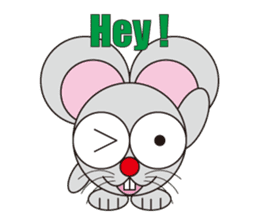 circle face 16 mouse part 1 sticker #619343