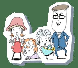 Friendly mashuroom family. Mana chu . sticker #619414