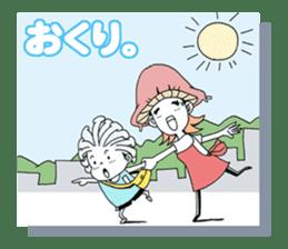 Friendly mashuroom family. Mana chu . sticker #619417