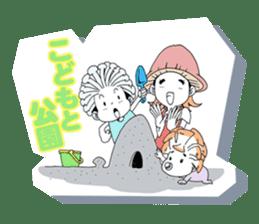 Friendly mashuroom family. Mana chu . sticker #619432