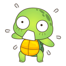 Pura, the cool and funny turtle sticker #619763