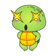 Pura, the cool and funny turtle sticker #619771