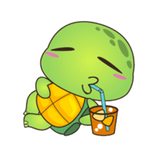 Pura, the cool and funny turtle sticker #619772