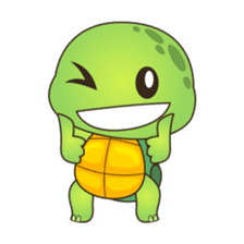 Pura, the cool and funny turtle sticker #619777