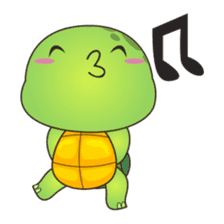 Pura, the cool and funny turtle sticker #619782