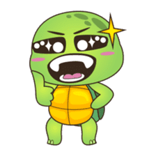 Pura, the cool and funny turtle sticker #619786