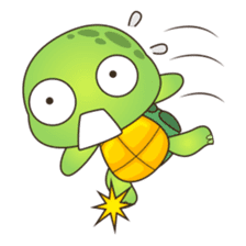 Pura, the cool and funny turtle sticker #619788