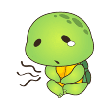 Pura, the cool and funny turtle sticker #619797