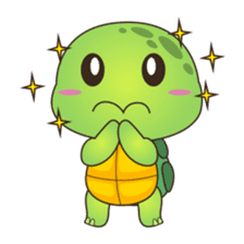 Pura, the cool and funny turtle sticker #619799