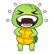 Pura, the cool and funny turtle sticker #619801