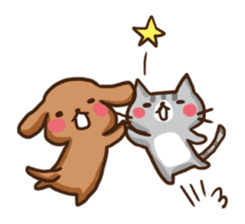 Kawaii Dogs and Kawaii Cats sticker #621438