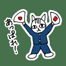 Cheerleaders cat sticker #621773