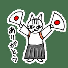Cheerleaders cat sticker #621775