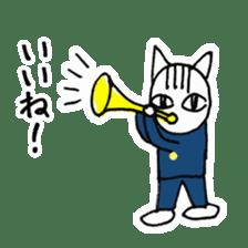 Cheerleaders cat sticker #621795