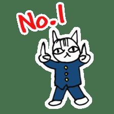 Cheerleaders cat sticker #621797