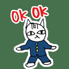 Cheerleaders cat sticker #621799