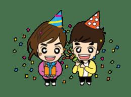 Cute Couple EP.2 Go&Nana sticker #624983