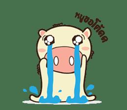 Ood Ood joyful pig sticker #625086