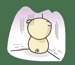 Ood Ood joyful pig sticker #625087